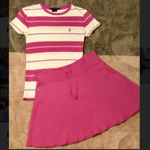Two piece Ralph Lauren set, skirt and shirt